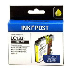 INKPOST for Brother Ink LC133 Yellow