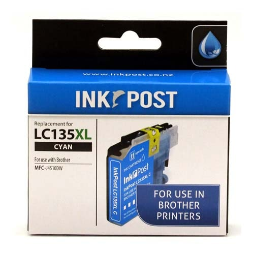 INKPOST for Brother Ink LC135XL Cyan