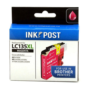INKPOST for Brother Ink LC135XL Magenta