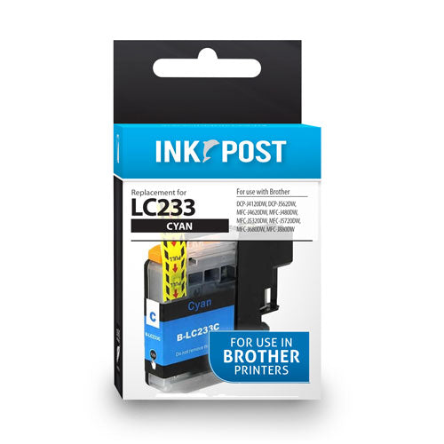 INKPOST for Brother Ink LC233 Cyan