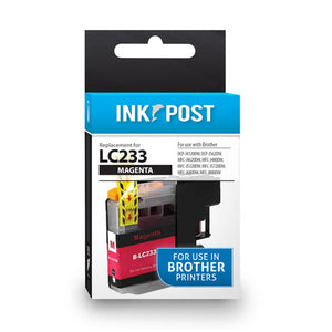 INKPOST for Brother Ink LC233 Magenta
