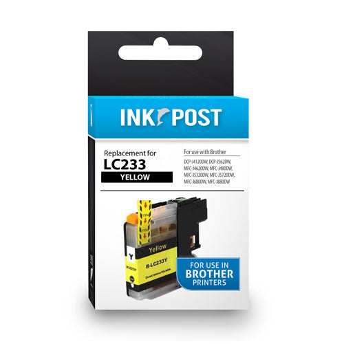 INKPOST for Brother Ink LC233 Yellow