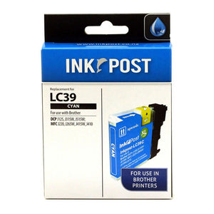 INKPOST for Brother Ink LC39 Cyan