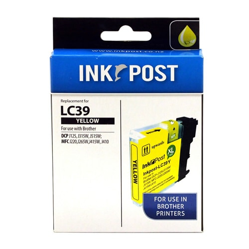 INKPOST for Brother Ink LC39 Yellow