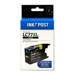 INKPOST for Brother Ink LC77XL Black