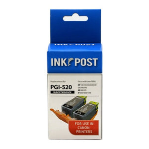 INKPOST for Canon Ink PGI520 Black Twin Pack