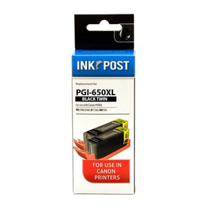 INKPOST for PGI650XL Black Twin pack