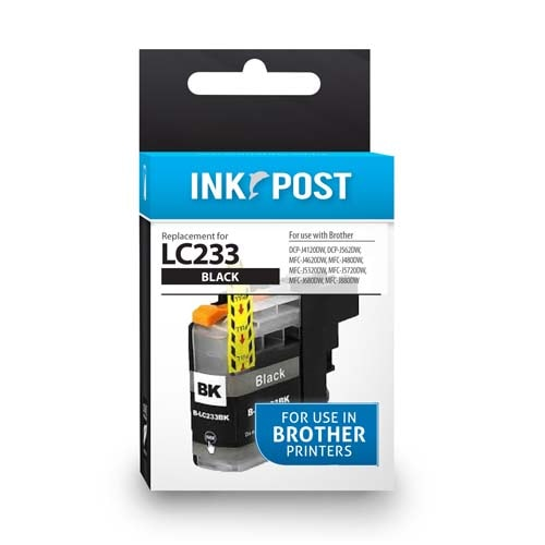 INKPOST for Brother Ink LC233 Black