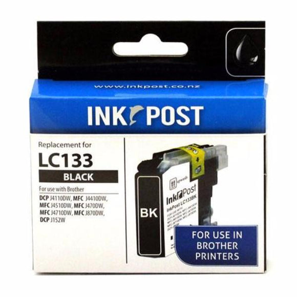 INKPOST for Brother Ink LC133 Black
