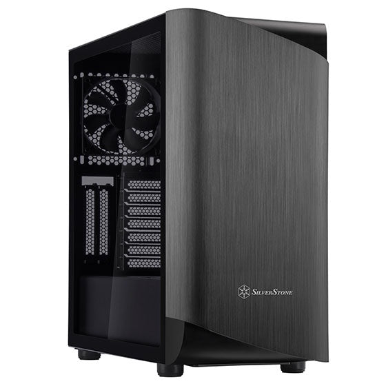 SilverStone SETA A1 ATX Black Mid Tower Case with Tempered Glass