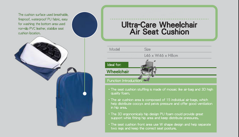 Ultra-Care Wheelchair Air Sear Cushion