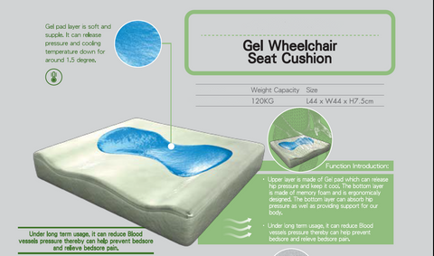 Gel Wheelchair Seat Cushion