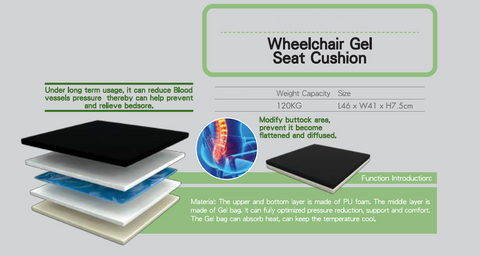 Wheelchair Gel Seat Cushion