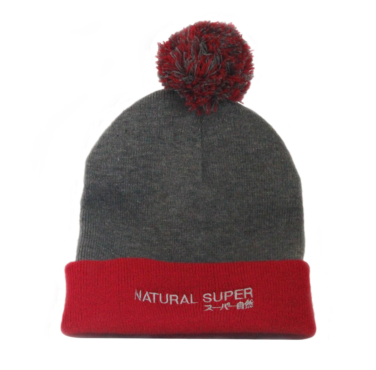 Red & Grey Knit Cap