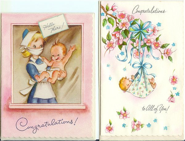 Vintage 1940s and 1950s Greeting Cards