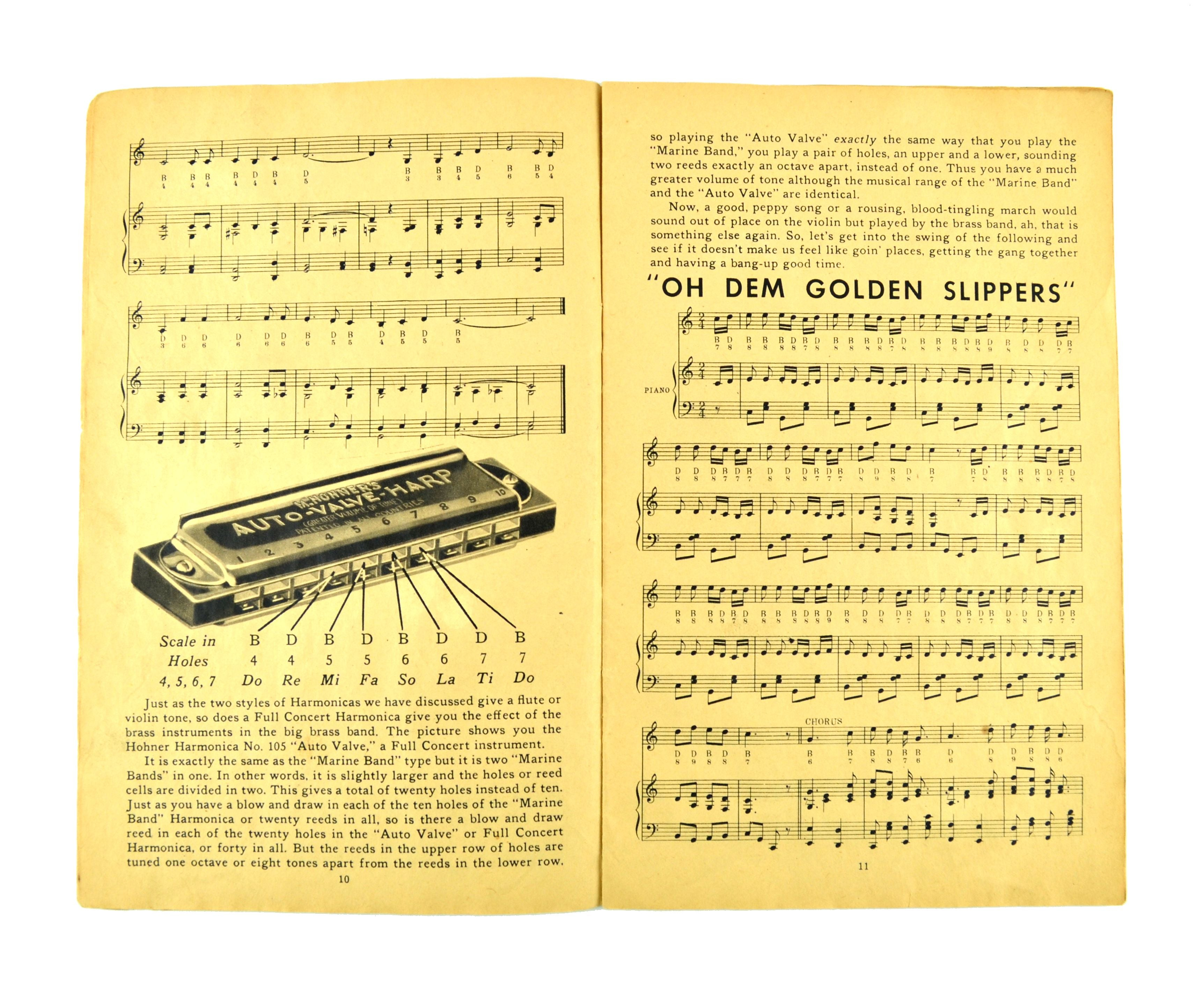 Harmonica Playing Made Easy 1937 Hohner Song Instruction Book