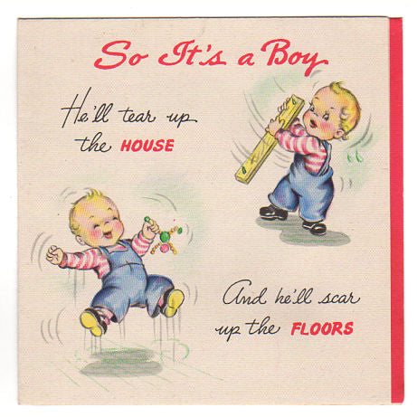 Avid vintage vintage collectibles so its a boy vintage 1940s hallmark new baby congratulations greeting card used avid vintage m4hsunfo