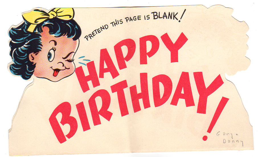 Avid vintage vintage collectibles vintage 1940s sangamon birthday greeting card woman with cake and lit candles avid vintage m4hsunfo