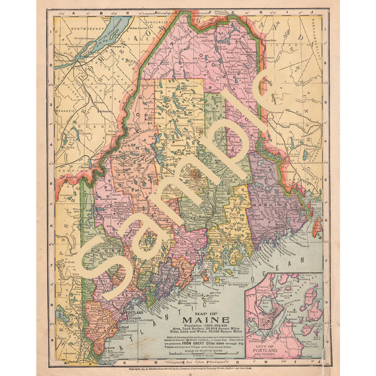image regarding Printable Map of Maine named Printable Antique Coloration Map of Maine Demonstrating Counties Instantaneous Obtain