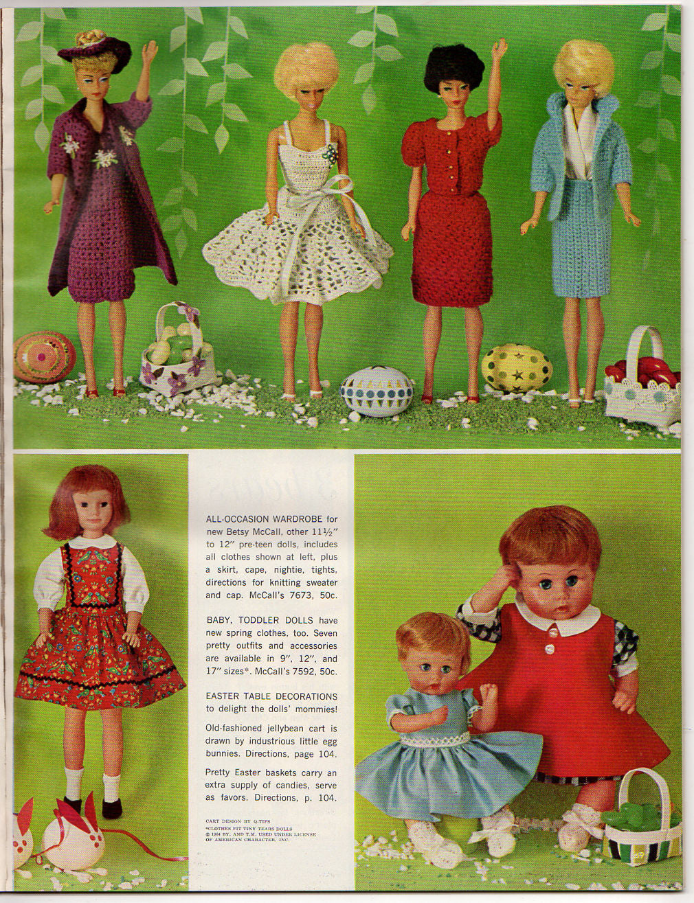 c09c127436630 ... Vintage 1965 McCalls Needlework Magazine Spring and Summer Doll Clothes  - Avid Vintage - 3 ...