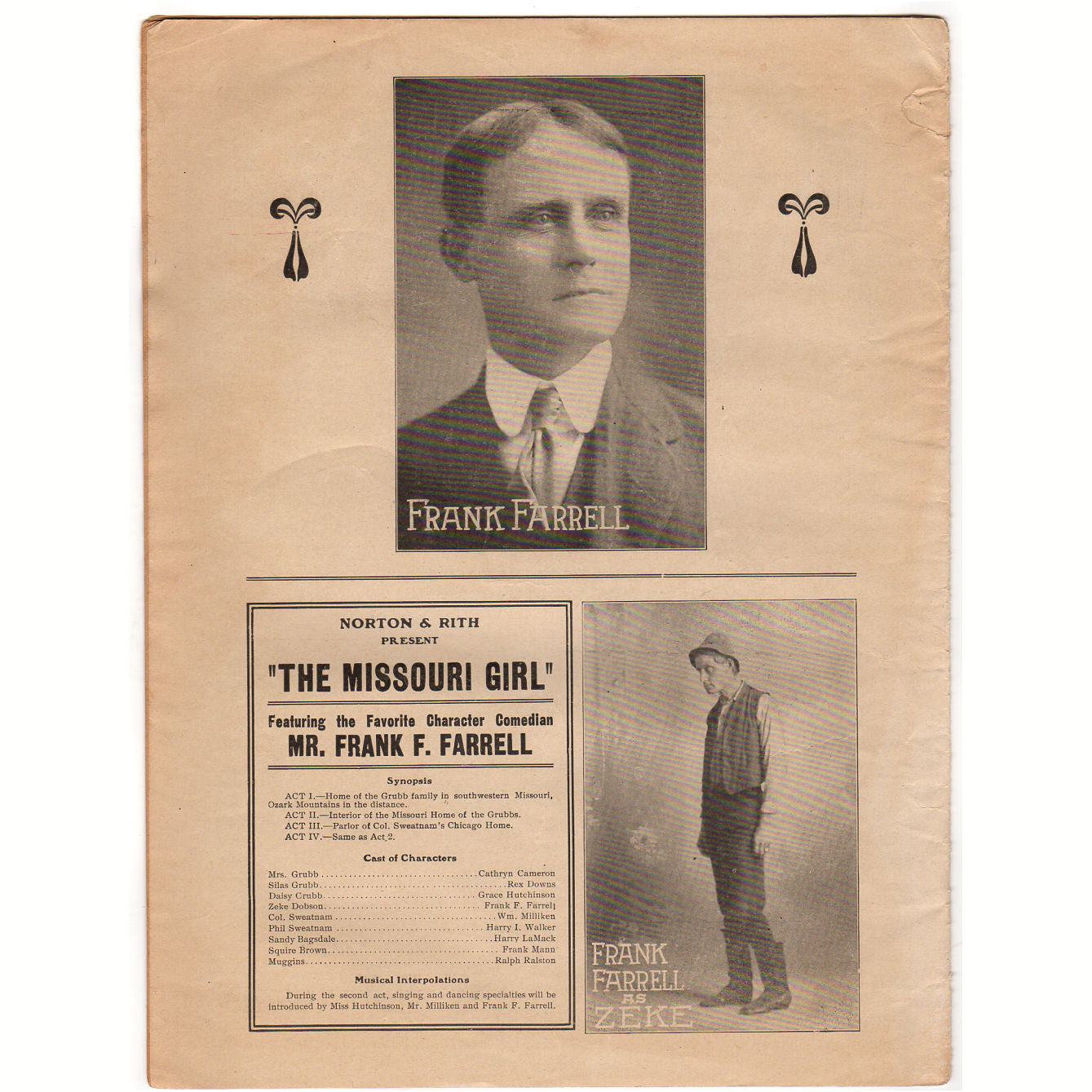 The Missouri Girl Vintage 1910s Sheet Music from the Fred Raymond Famous  Comedy