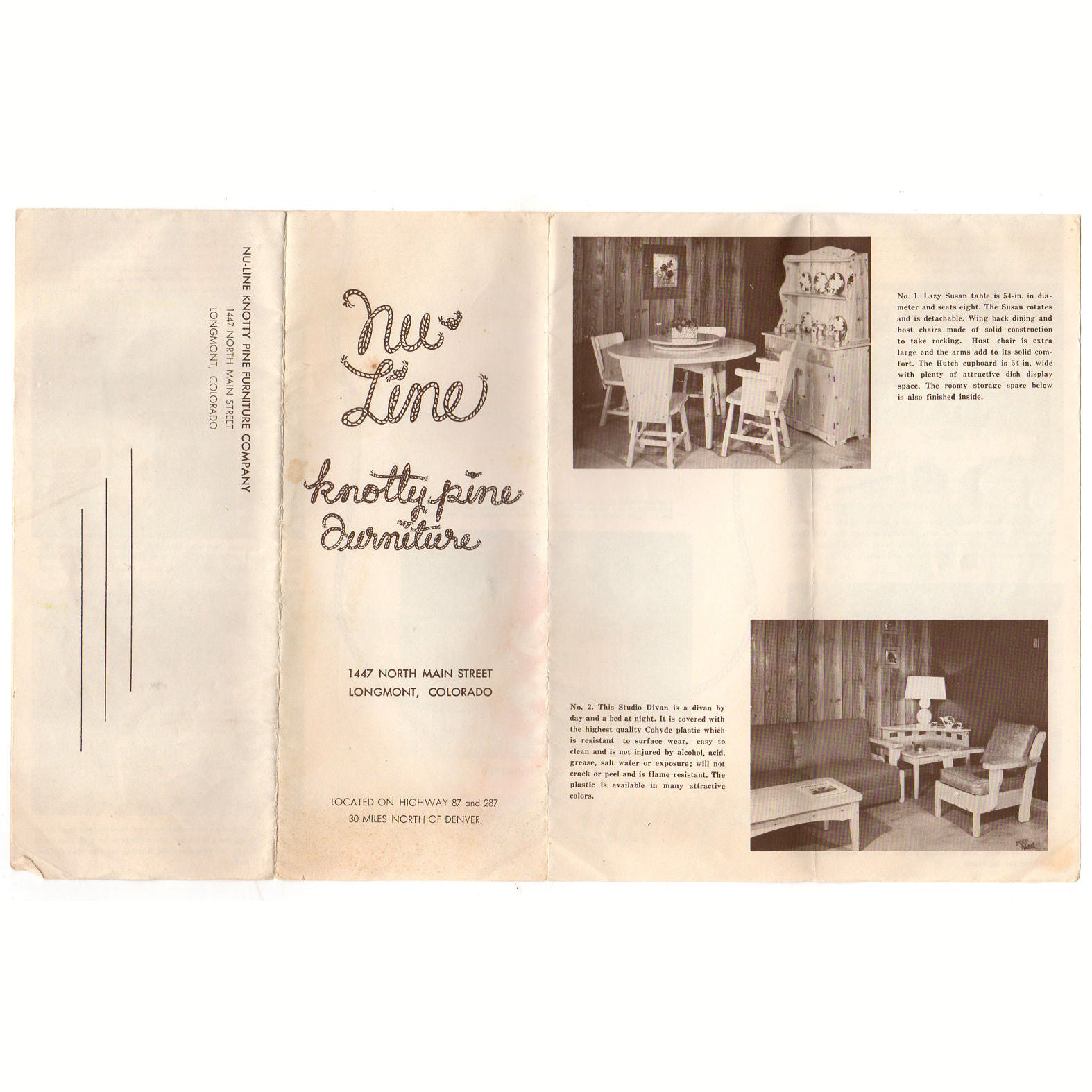 Nu Line Knotty Pine Furniture Longmont Colorado Product Brochure And Price  List   Avid Vintage ...