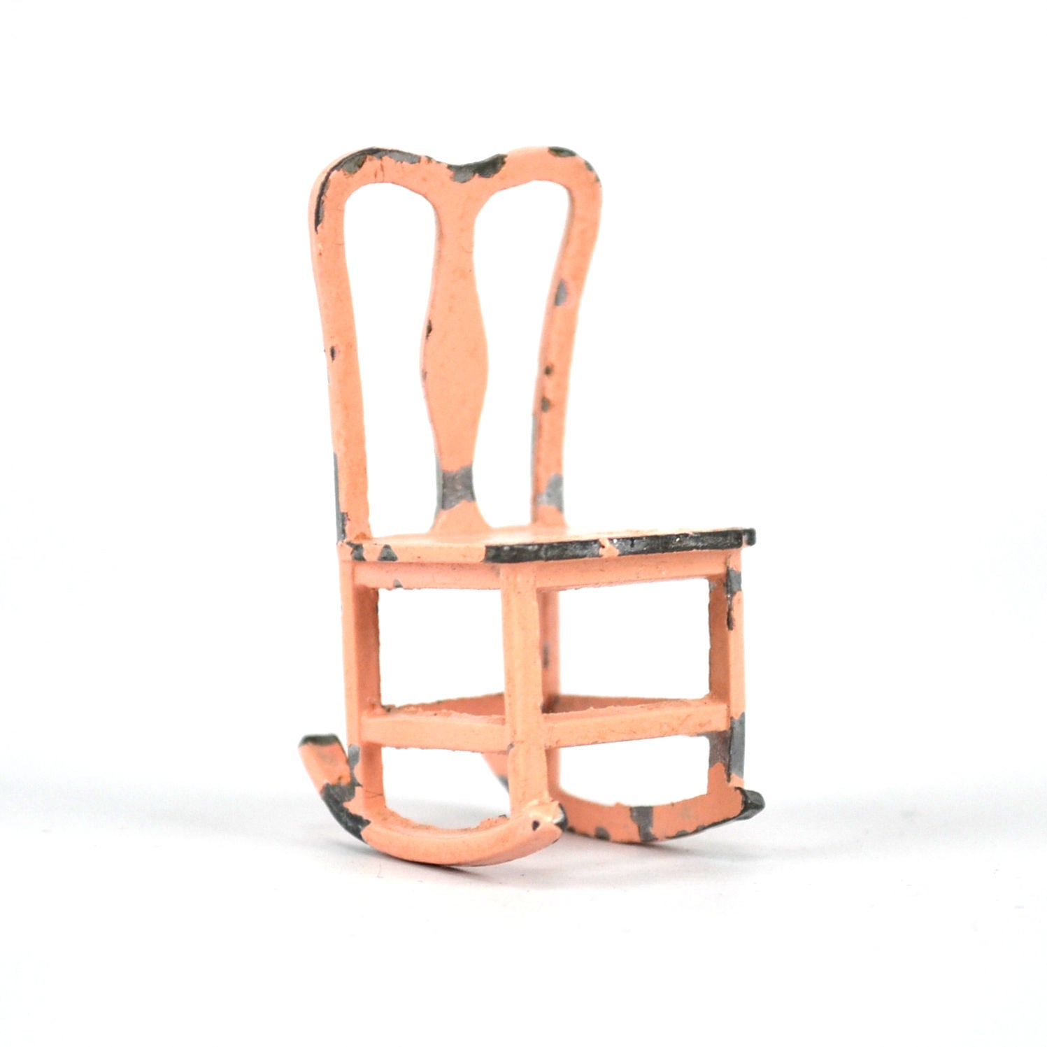 Admirable Vintage Pink Tootsie Toy Rocking Chair Metal Doll House Furniture Ibusinesslaw Wood Chair Design Ideas Ibusinesslaworg