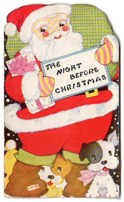 the night before christmas vintage 1950s childrens book clement c moore avid vintage - Night Before Christmas Book