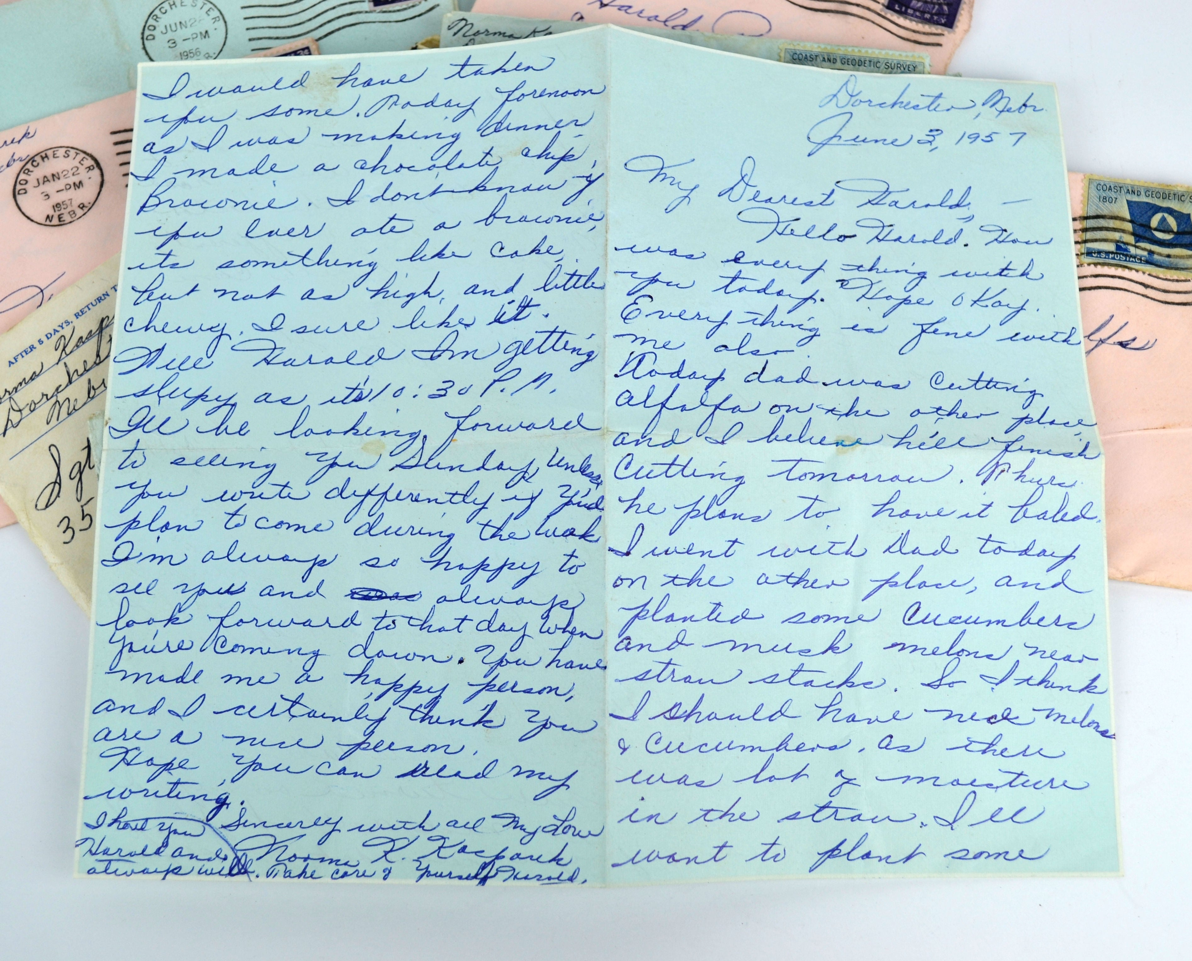 Vintage 1950s Handwritten Love Letters Lot Of 10 Sweathearts Old Correspondence