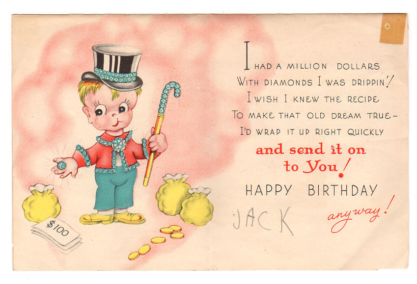 Astounding Avid Vintage Vintage Collectibles Personalised Birthday Cards Paralily Jamesorg