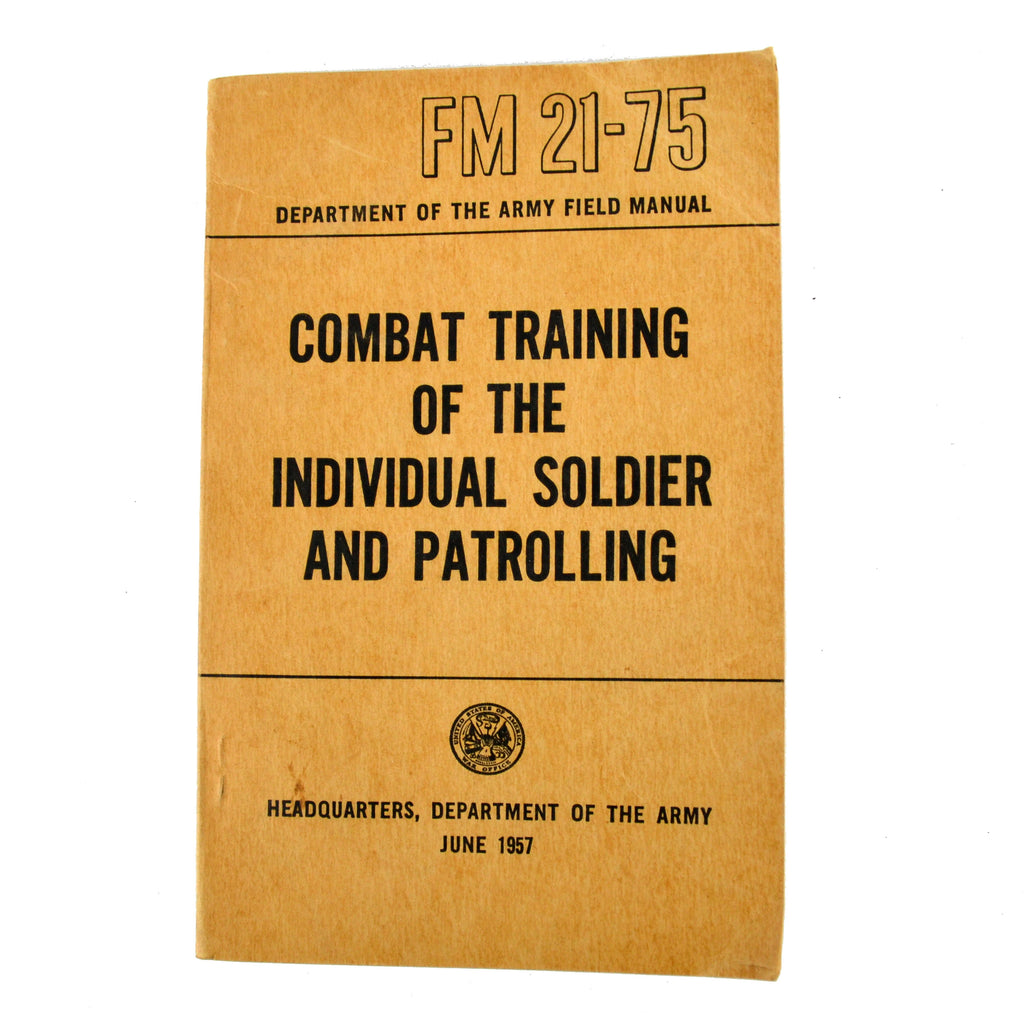1957 US Army Field Manual Book FM 21-75 Soldier Training Survival Guide -  Avid ...