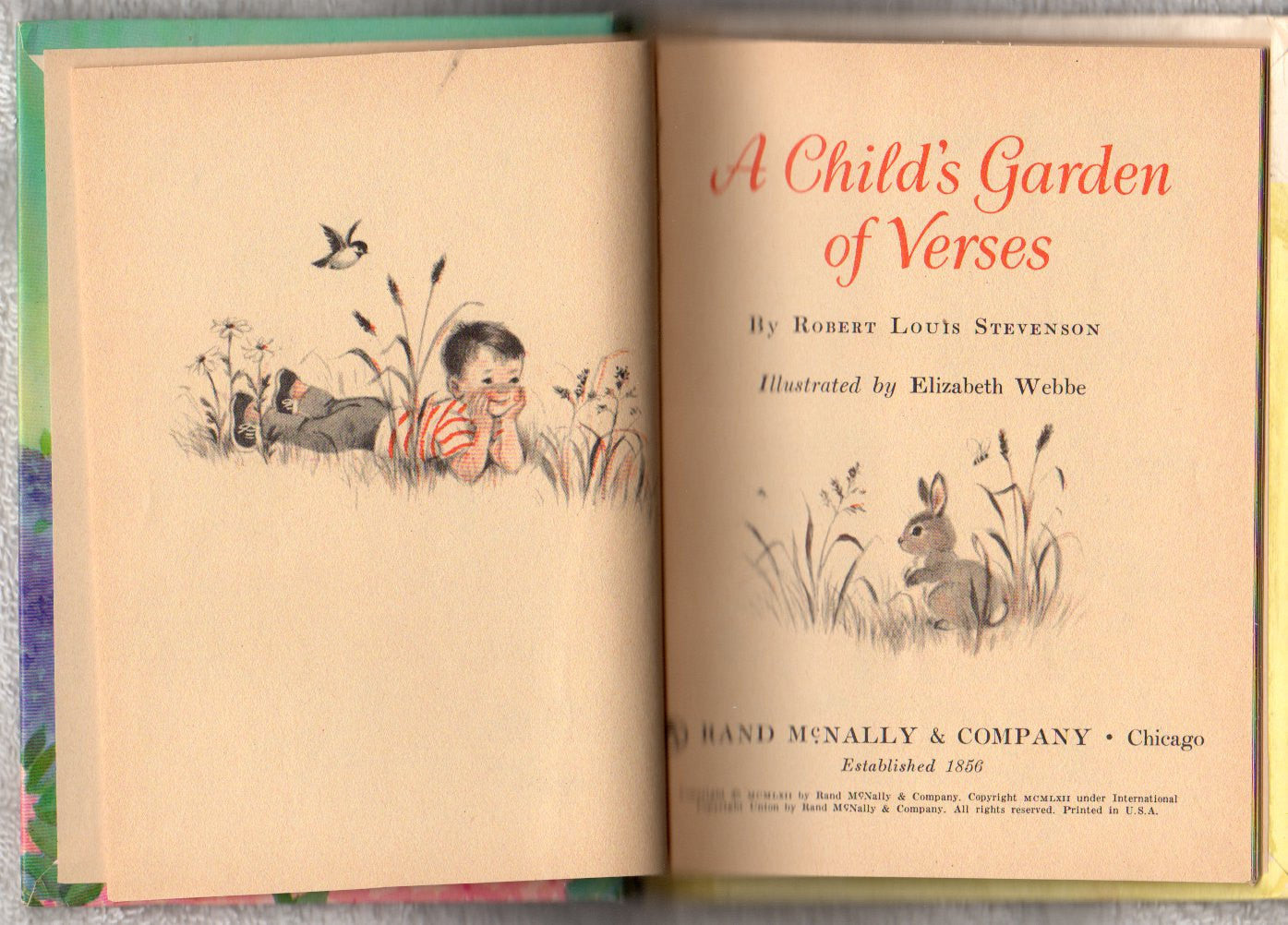 a childs garden of verses vintage 1962 junior elf book 8095 by robert louis stevenson - A Childs Garden Of Verses