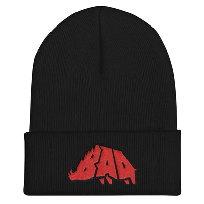 Hat - B.A.D. Boar - Beanie - Black & Red