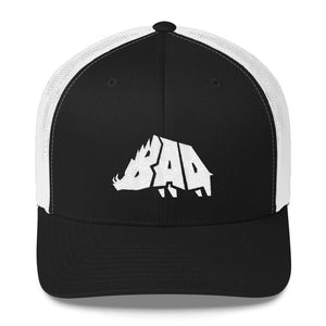 Hat - B.A.D. Boar - Mesh Hat - Black & White