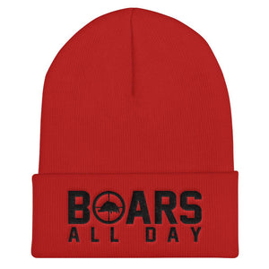 Hat - Boar In The Crosshairs - Beanie - Blood Red