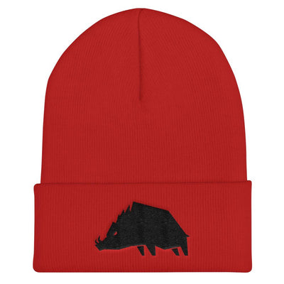 Hat - Boar Logo - Beanie - Blood Red