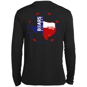Shirt - Texan Boar - Moisture Wicking Performance Long Sleeve