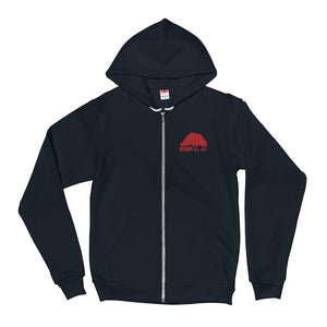 B.A.D. Unisex Zip Up Hoodie - American Apparel