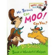 Books and Bodysuits Gift Set: Mr. Brown Can Moo, Can You: Dr. Seuss's Book of Wonderful Noises