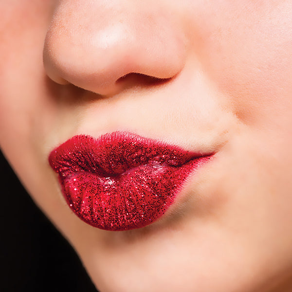 Red Glitter Lips-Yofi Cosmetics