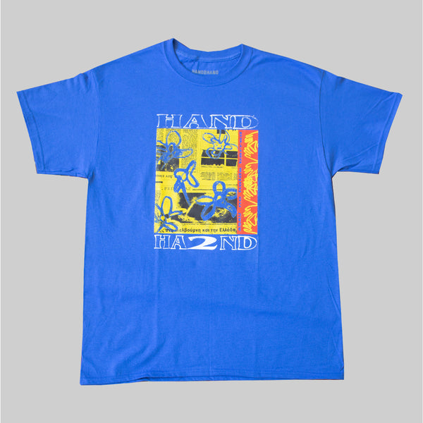 H2H x ASAU NO HOLDS BARRED S/S T- ROYAL BLUE