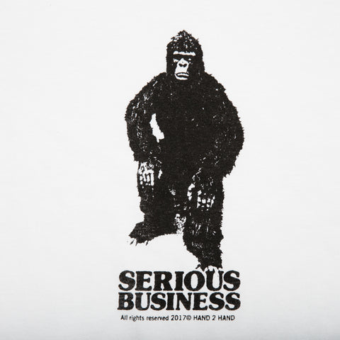 H2H SERIOUS BUSINESS S/S T- WHITE