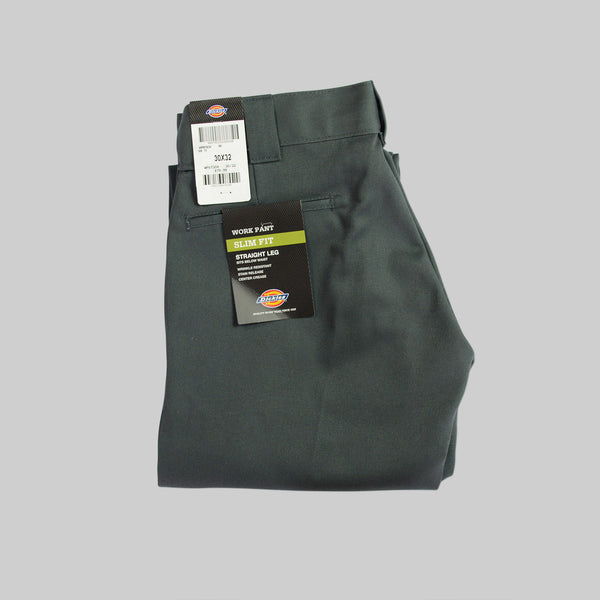 DICKIES 873 SLIM STRAIGHT PANTS - GREY