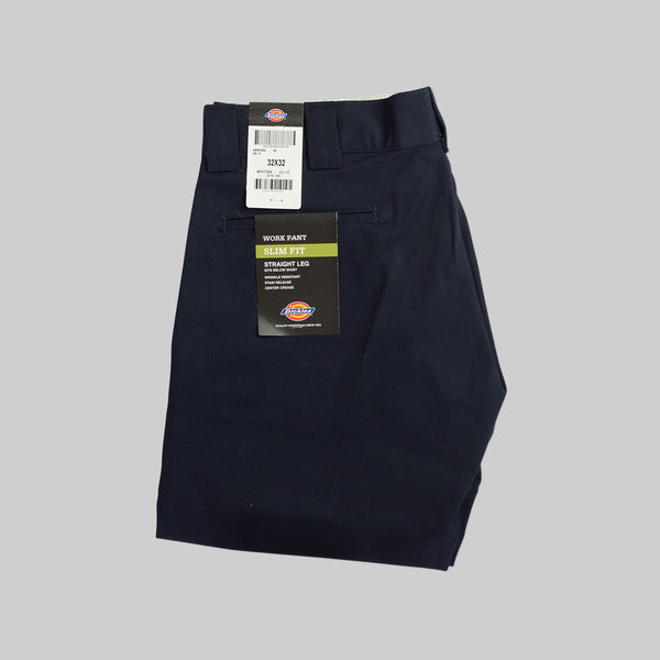 DICKIES 873 SLIM STRAIGHT PANTS - DARK NAVY
