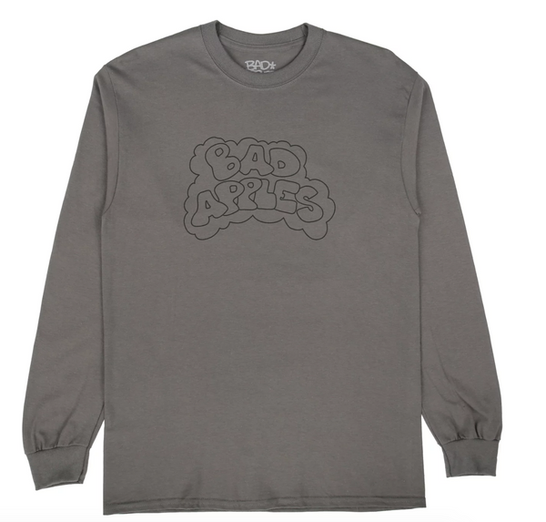 BAD APPLES CLEO L/S T - DARK GREY