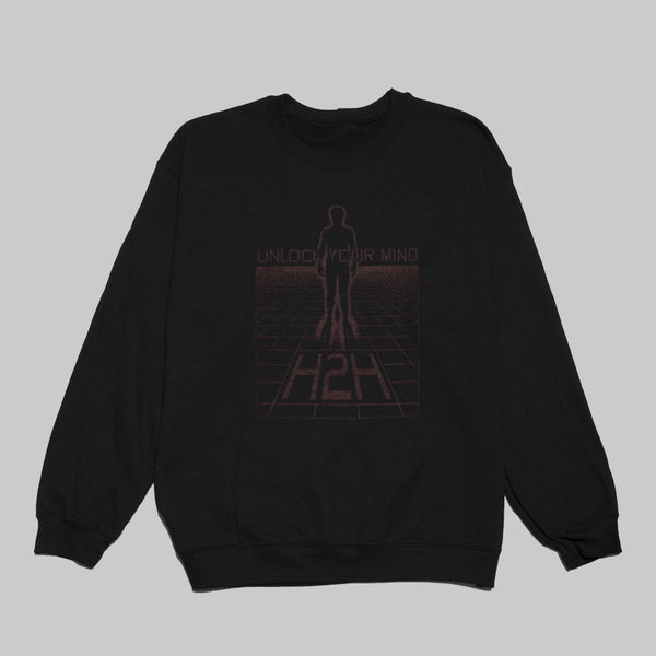H2H UNLOCK CREWNECK- BLACK
