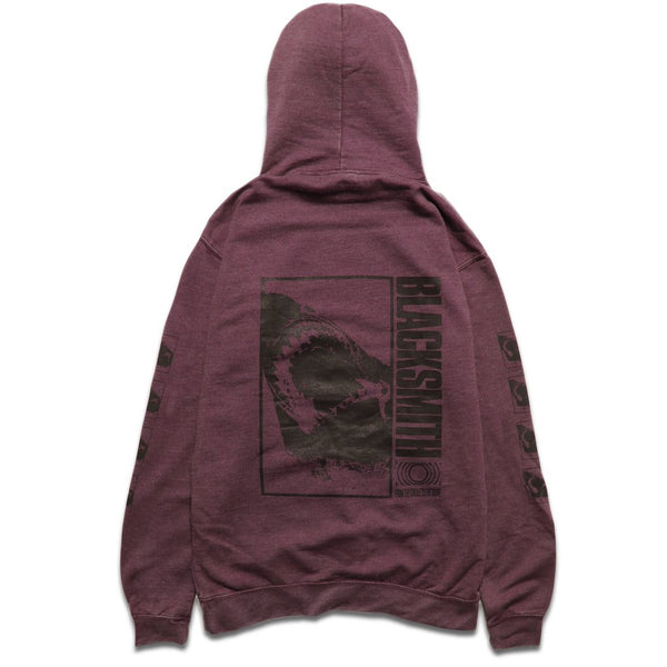 BLACKSMITH SHARK BITE HOOD - BURGANDY