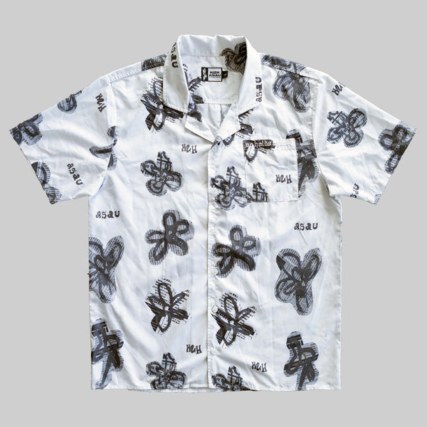 H2H x ASAU NO HOLDS BARRED BUTTON DOWN - WHITE