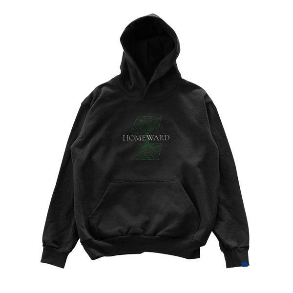 PSEUSHI WORMHOLE HOOD - BLACK