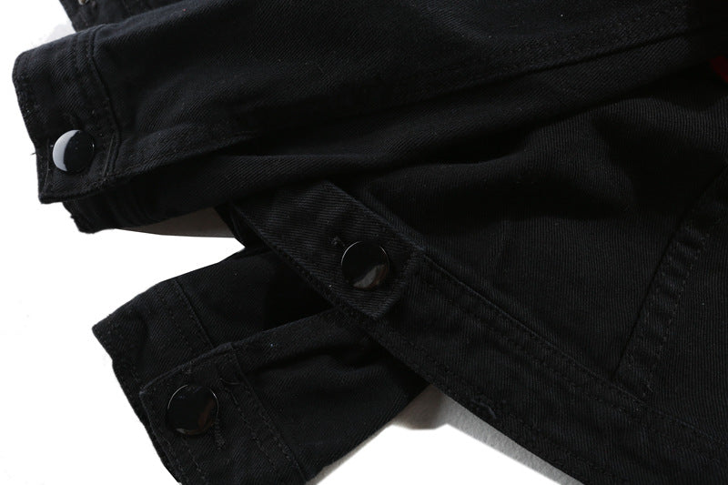 BLACK DESTROYED DENIM